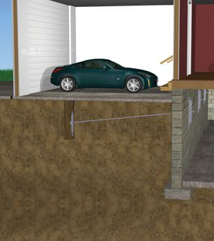 Graphic depiction of a street creep repair in a Telluride home