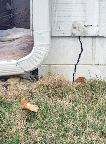 foundation wall cracks due to street creep in Palisade